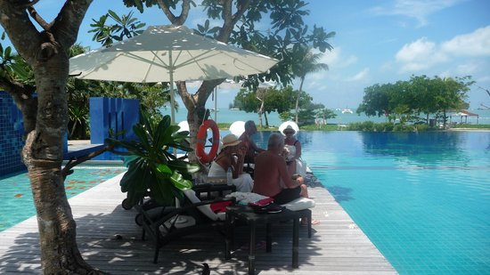 The Danna Langkawi, Malaysia: Munchies by the pool.
