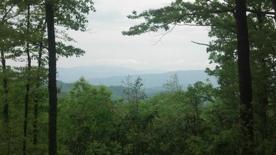 Whittier, NC: View from hiking trails on the property.