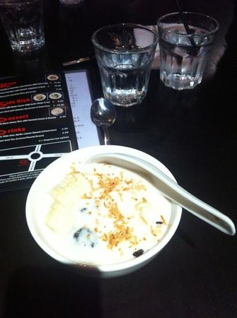 Semaphore, Australia: black rice pudding yum