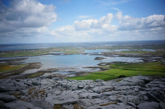 Kinvara, Ireland: View from the walk in the Burren