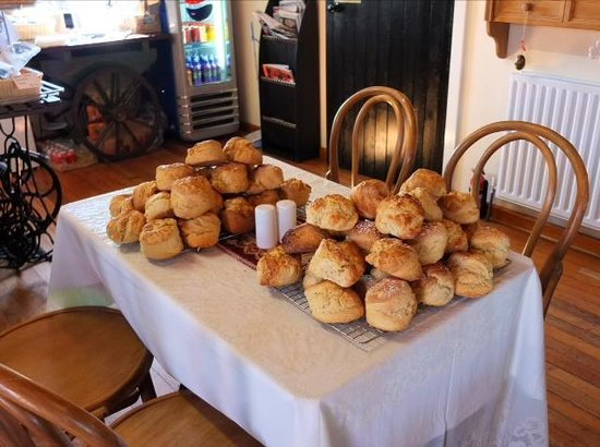 Ballintoy, UK: Massive scones!