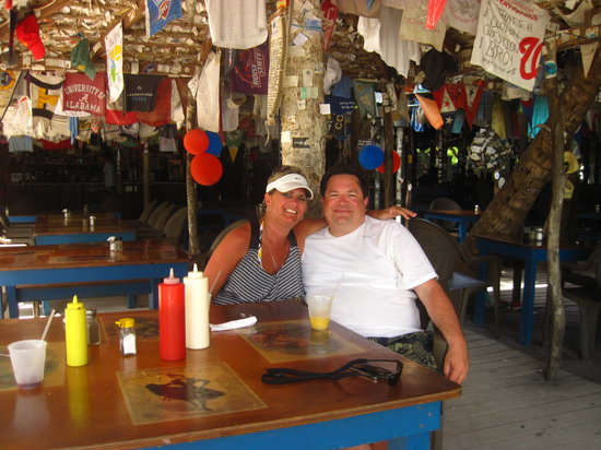 Cruz Bay, St. John: Lunch at Foxys on Jost