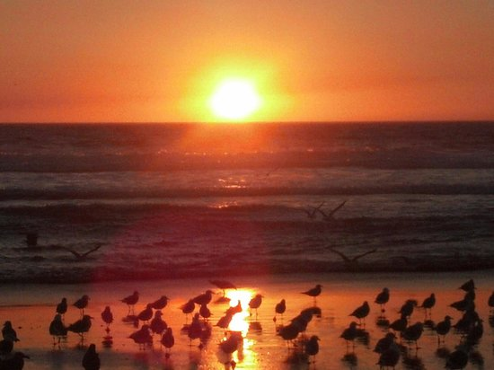 Watsonville, CA: October sunset view at Pajaro Dunes
