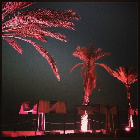 Sheraton Jumeirah Beach Resort: The Bliss Loung at the night.