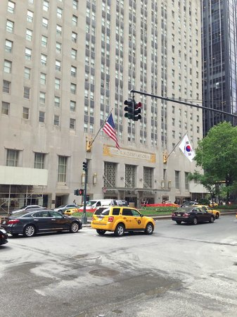 Waldorf Astoria New York: President of South Korea just checked in