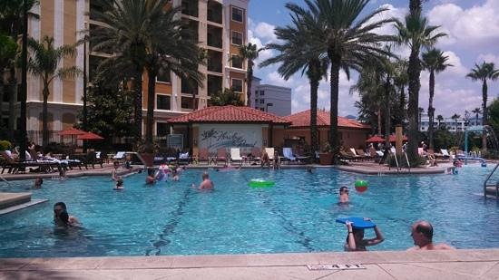 "Floridays Resort Orlando: Pool Area with Building ""B"" in the background"