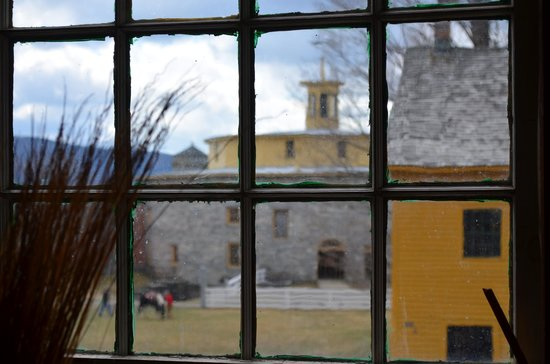 Pittsfield, MA: Looking out the window to the famed round barn