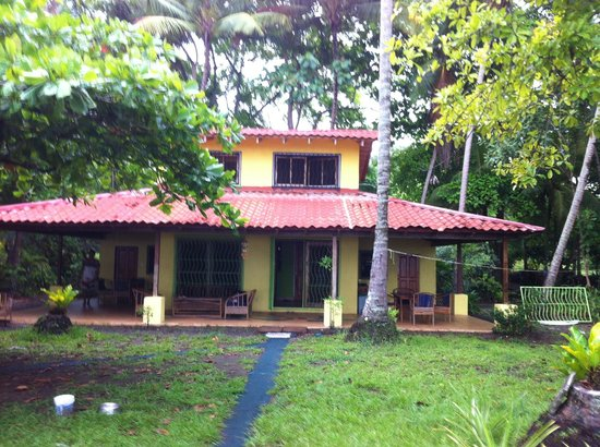 Playa Matapalo, Costa Rica: Back of the house facing the beach