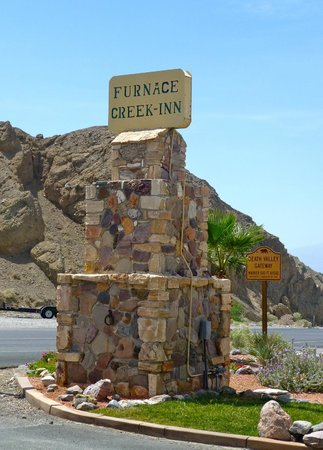 Furnace Creek Inn and Ranch Resort : The Hotel sign