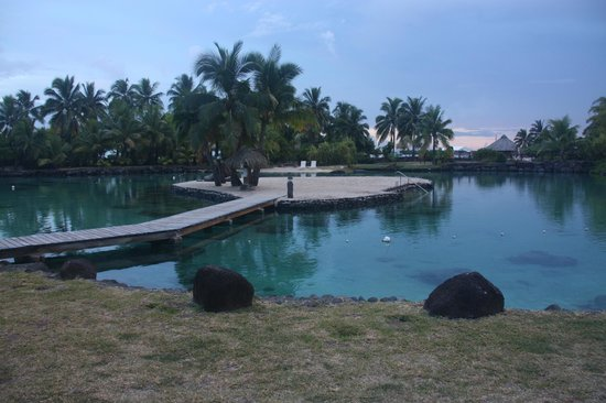 InterContinental Resort Tahiti: The artificial lagoon