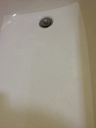 Holiday Inn Anaheim-Resort Area: A maintenance shortcut? Tub bottom had a rectangle painted over it?