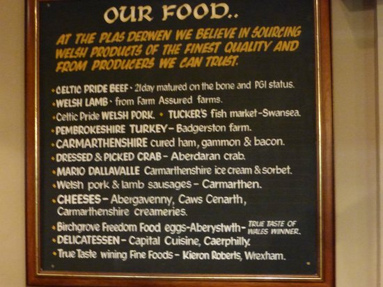 Abergavenny, UK: Local food
