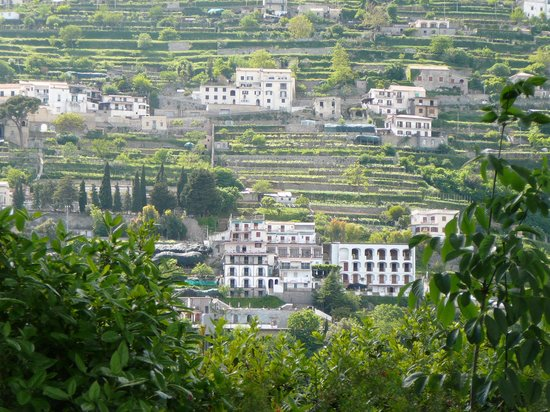 Scala, Italia: view of hotel from Ravello