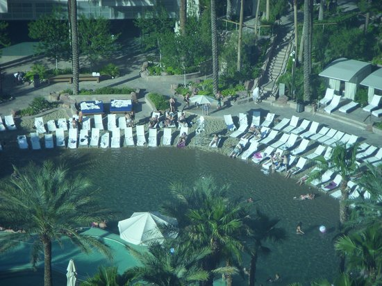 Hard Rock Hotel and Casino: view of pool from suite