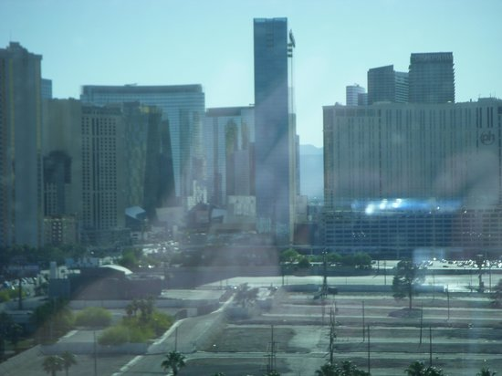 Hard Rock Hotel and Casino: view of strip from suite