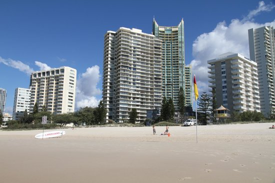 Hi Surf Beachfront Resort Apartments: View from Beach