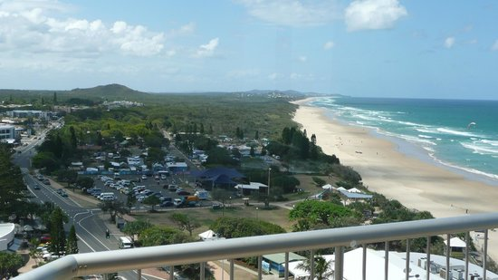 Coolum Caprice Luxury Holiday Apartments: Stunning view looking towards Noosa