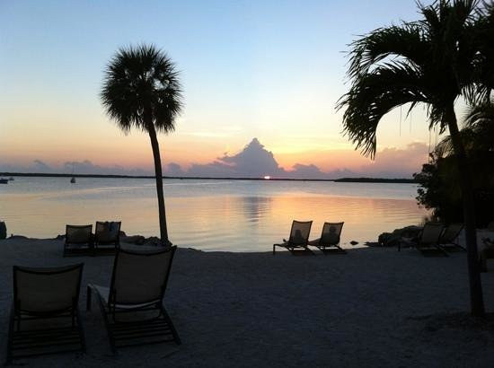 Hampton Inn Key Largo: sunset on beach at Hampton Inn