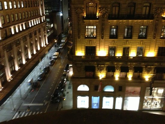 The Peninsula New York: Looking out on 5th Avenue at Night