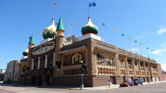 Mitchell, Южная Дакота: The Corn Palace from the outside.