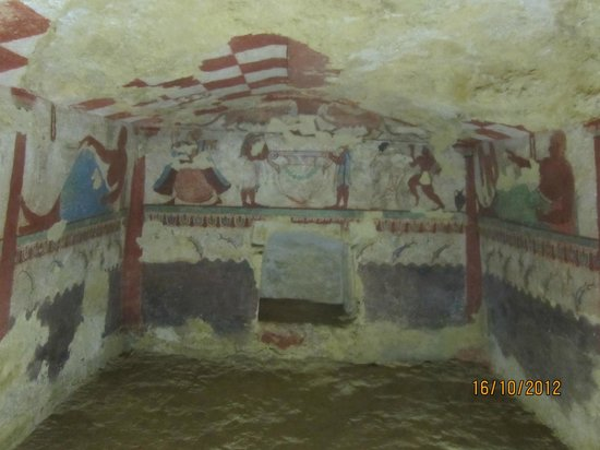 Lazio, Italy: Inside the tombs.