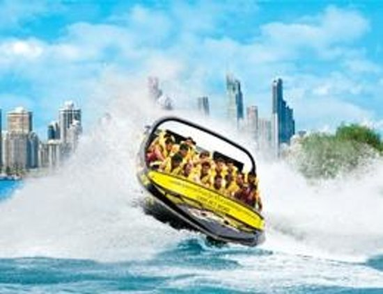 Main Beach, Australia: Paradise Jetboating Spin Shot