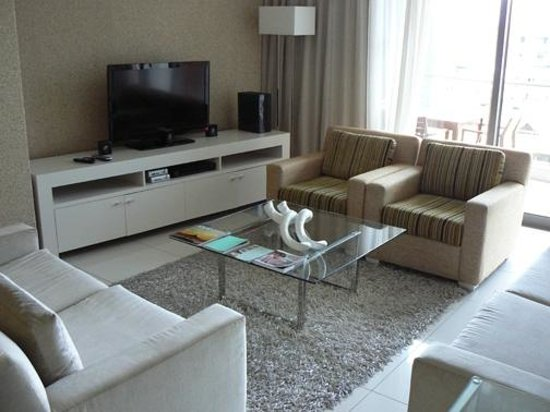 Lawhill Luxury Apartments: Flat screen TV with satellite reception