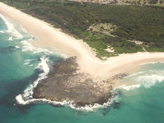 Ballina, Australia: arial shot of Flat rock Tent Park