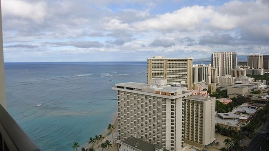 Hyatt Regency Waikiki Resort & Spa: Ocean view from our balcony