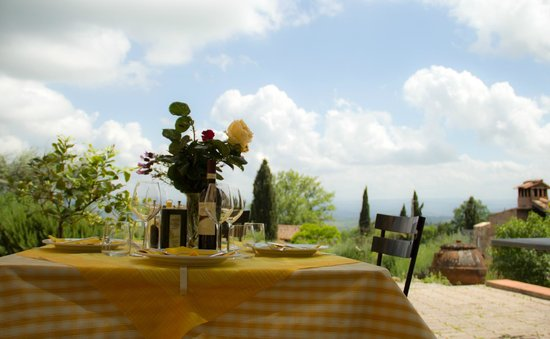Agriturismo Il Castagnolino: Panorama dal ristorante