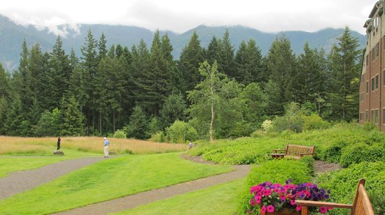Skamania Lodge: Lodge's view of mountains