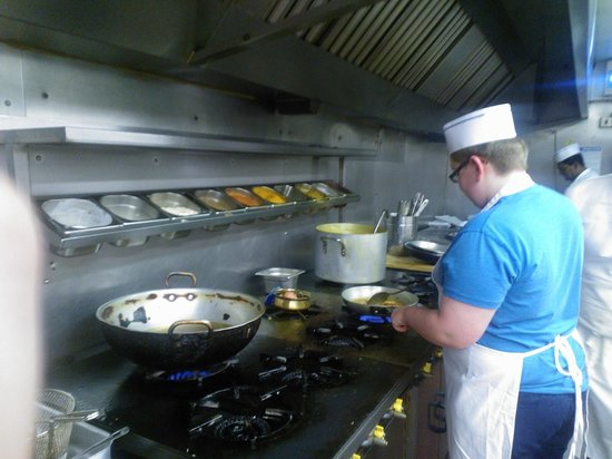 Camberley, UK: A chef in the making...