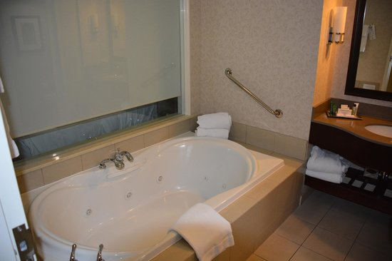 Hilton Hotel and Suites Niagara Falls / Fallsview: Bath with jacuzi