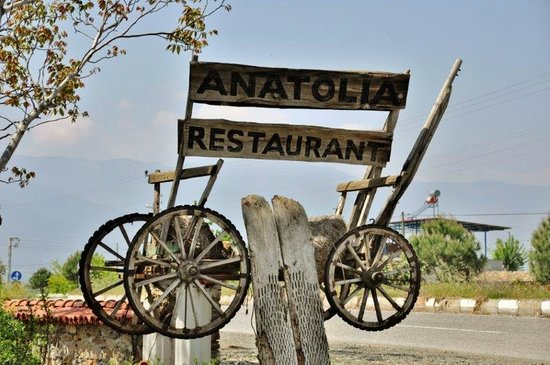 Aydin, Turchia: Restaurant sign