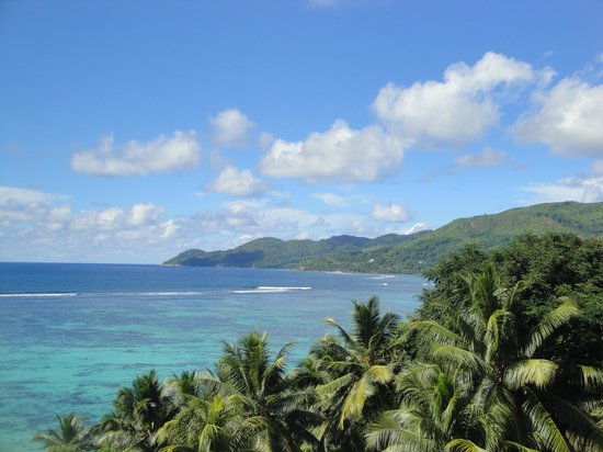 Anse Royale, Σεϋχέλλες: View from the terrace in the morning