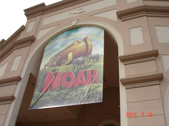 NOAH banner, Sight & Sound Theatre, Strasburg, PA