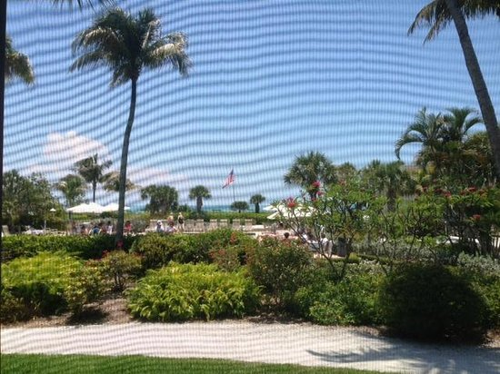Sanibel Inn: View from Screened Porch