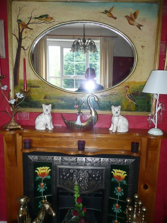 Padarn Lake Hotel: Quirky Front Dining Room Fireplace
