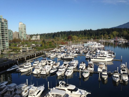 The Westin Bayshore, Vancouver: View of the harbour with Stanley Park in the background