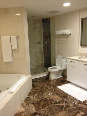 Hilton Ft Lauderdale Beach Resort: bathroom in room 2501 It's giantic with a jacuzzi tub