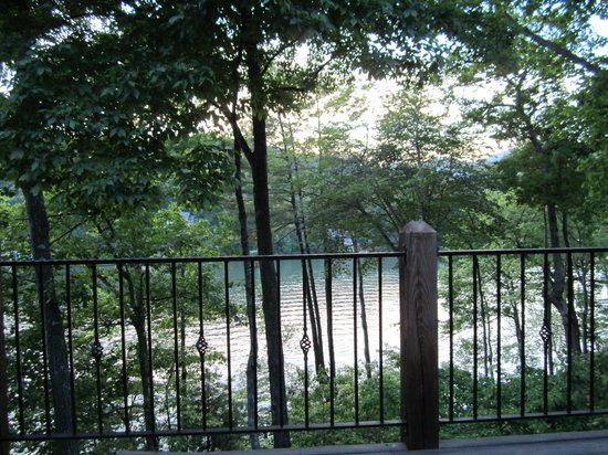 Lake Lure, NC: A view from our deck at the African Queens room
