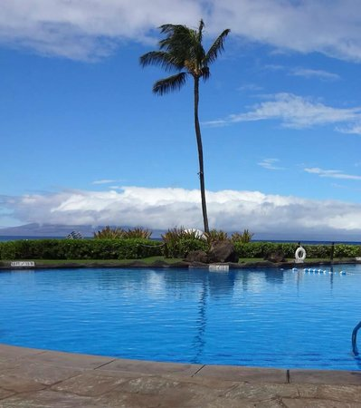 Sheraton Maui Resort & Spa: Sitting at pool