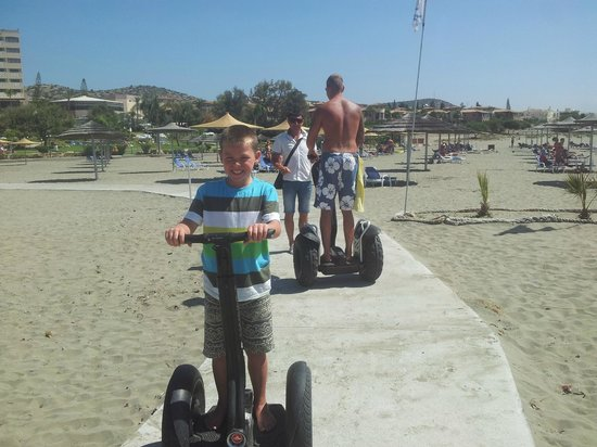 St Raphael Resort: Segways brilliant ride along the beach
