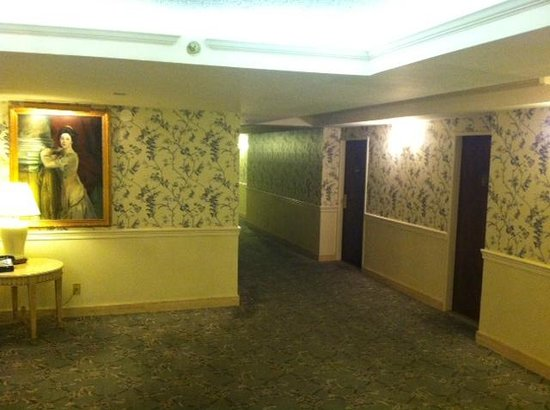 L'Enfant Plaza Hotel: Scary old wallpaper and paintings.