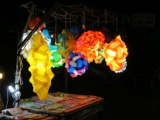 Laem Set, Thailand: night market stall