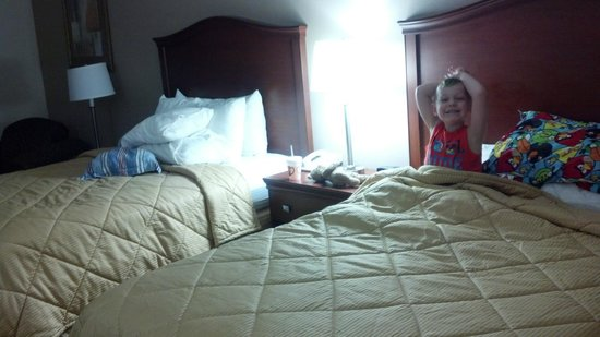 Comfort Inn & Suites: Two queen beds, my son loved having his own big bed. :)