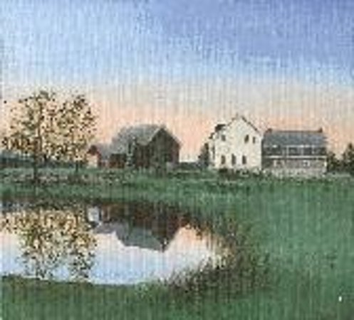 ‪‪Battlefield Bed and Breakfast Inn‬: Painting of pond, farmhouse, and barn‬