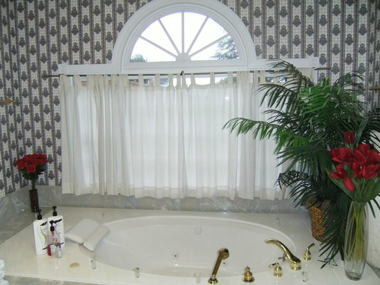 Candleberry Inn B&B & Day Spa : Huge Garden Tub w/ jacuzzi jets.........loved this!