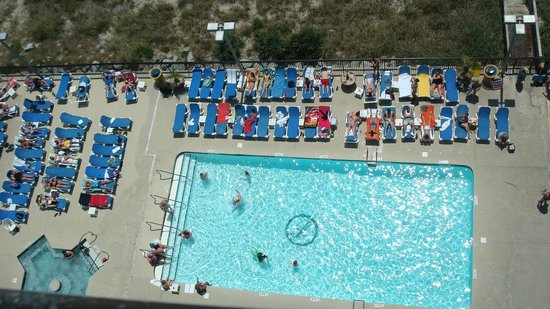 Landmark Resort: One of 17 pools at the Landmark, picture taken from our room.