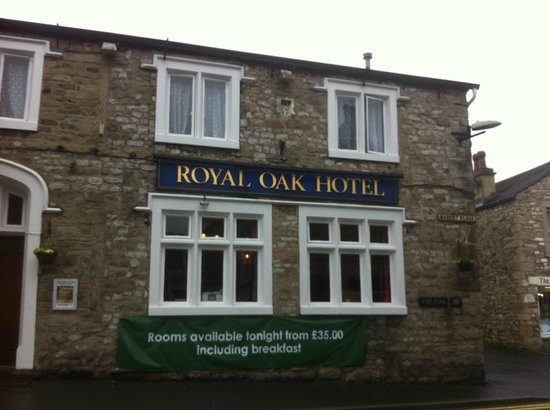 Settle, UK: one half of the royal oak